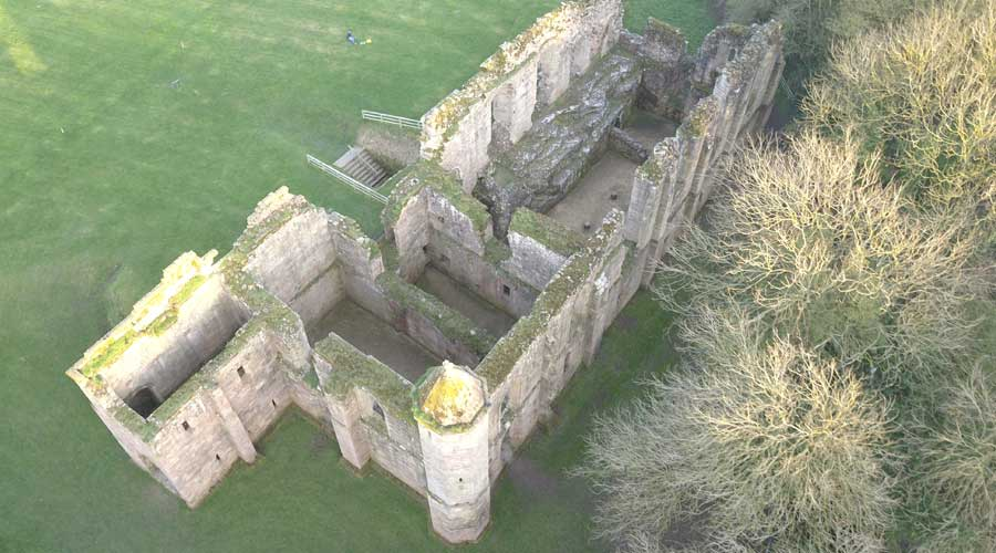 Spofforth Castle North Yorkshire Aerial Drone Photo